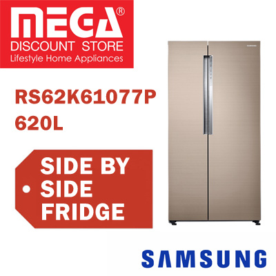 SAMSUNG RS62K61A77P 620L SIDE BY SIDE REFRIGERATOR / FRIDGE / FREE GIFT BY AGENT / LOCAL WARRANTY