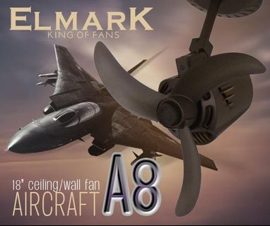 "Elmark Aircraft P90 18"" ceiling/wall fan"