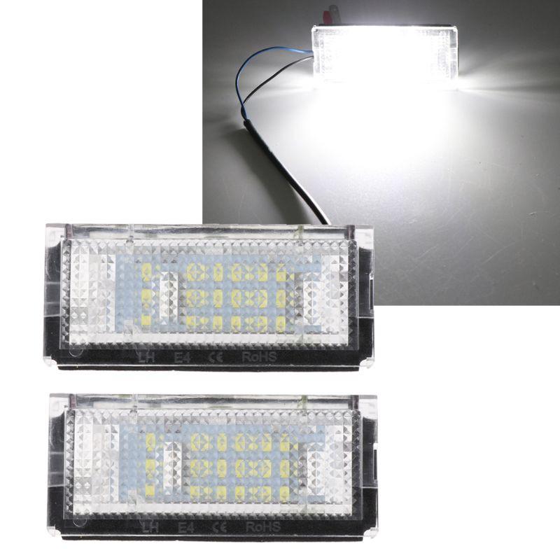 汽摩配件-(1對)解碼18LED BM牌照燈E46-4D\E46-5D-白光