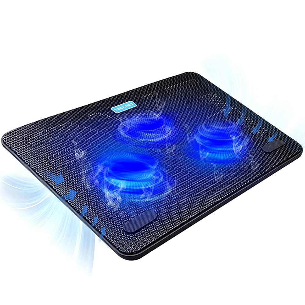 Laptop Cooling Pad,WONFAST USB Laptop Cooler Pad Stand with 6 Quiet Adjustable Fans,LCD Display Blue LED Light for 9 to 17 PC Laptop