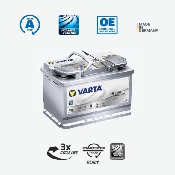 SCB VARTA 華達 E39 德國製造 70Ah AGM