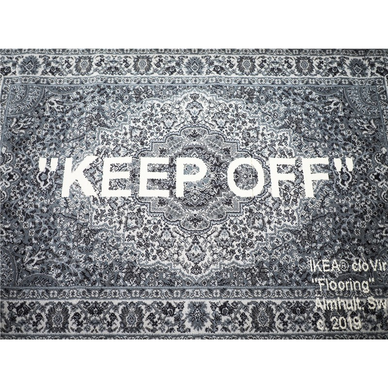 全新現貨正品限量Off-White x IKEA Virgil Keep Off 宜家腰果花地毯 OW地毯IKEA地毯