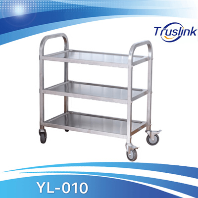 Stainless Steel Trolley Kitchen Serving Kitchen Appliance Stainless Trolley With Lockable Wheels