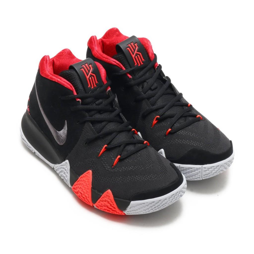 NIKE KYRIE 4 EP 鋸齒籃球鞋(黑紅銀白) 943807-005 IRVING 圖騰 厄文 男