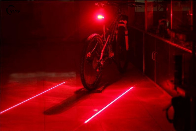 5 LED Bicycle Light 2 Lasers Bike Rear Light Cycling Tail Lights Mountain Bicycle Lights Lamp For Bike Accessories