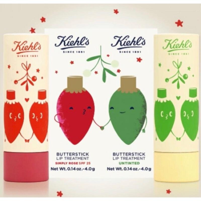 Kiehl's 契爾氏檸檬奶油 潤色護唇膏SPF25 聖誕牽手燈泡限定版代購6/10截止下單6/20出貨
