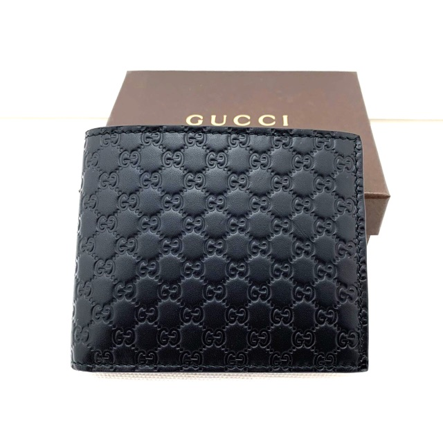 Gucci Men wallet MicroGG leather