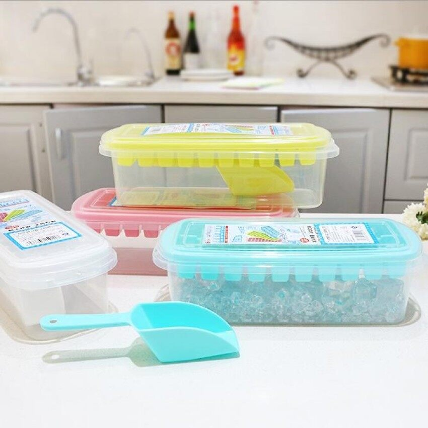 Food Grade Made Ice Grid With Cover With Lid Large Ice Mold Box Ice Box Made Ice Box Creative 30 Box