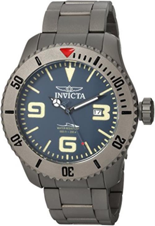 Invicta Men's 'Pro Diver' Automatic Titanium Diving Watch, Color:Silver-Toned (Model: 23127)