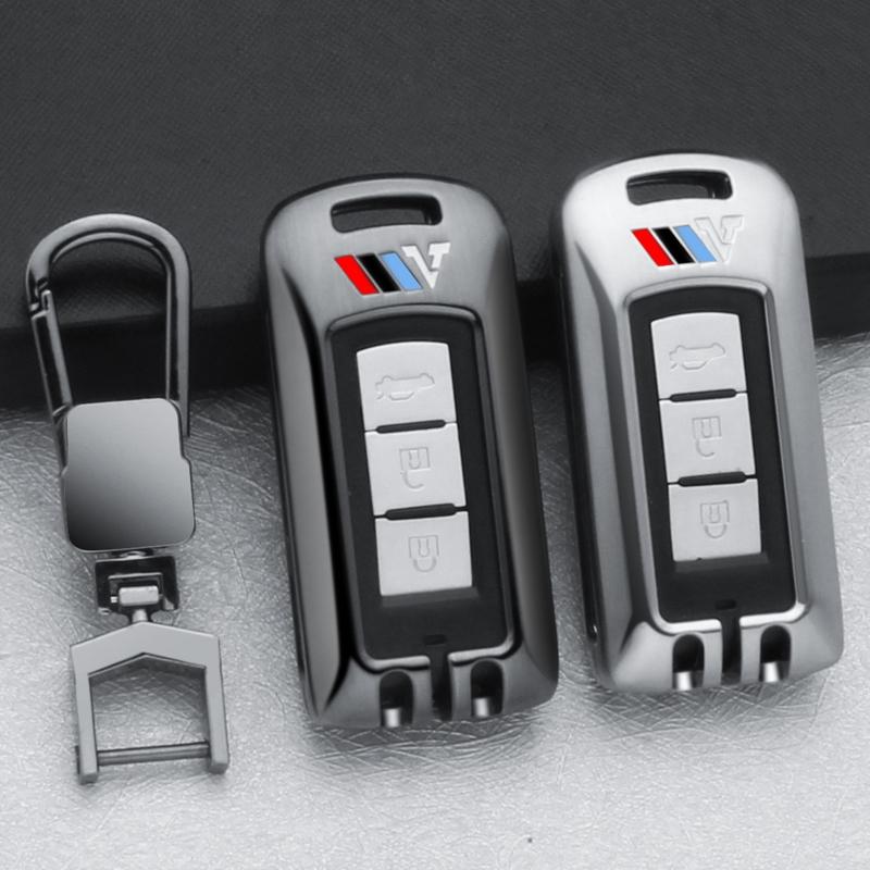 【汽车钥匙套】三菱鑰匙包歐藍德汽車鑰匙殼扣智能遙控鑰匙套原廠