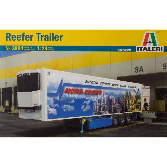 義大利 模型 ITALERI 1/24 3904 1/24 Reefer Trailer 冷凍貨櫃 曳引車 拖車頭 貨櫃