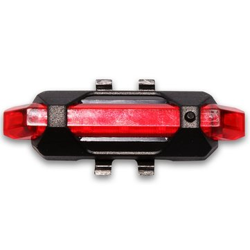 USB Rechargeable Bike Tail Light LED Safety Warning Light