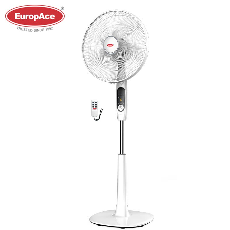 EuropAce16 inches stand fan with 10 blades - stronger and wider airflow