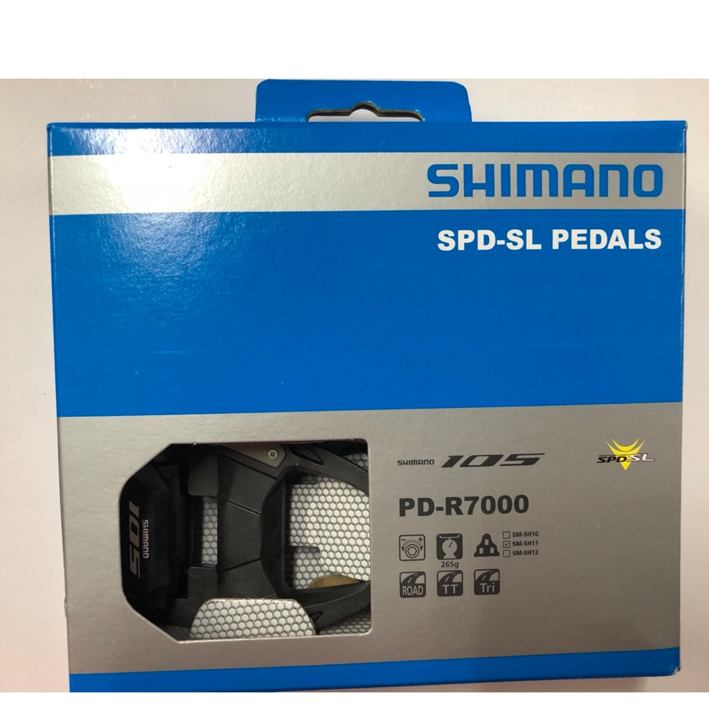 "『時尚單車』""贈PRO手把帶"" Shimano 105 R7000 碳纖維 踏板 卡踏 附SM-SH11"