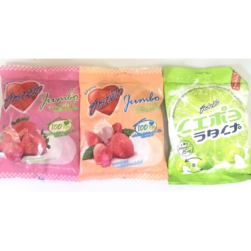 泰國 100g 哈比夾心糖 (鹹檸檬 草莓 荔枝)