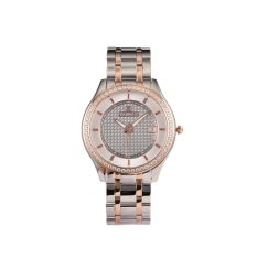 VANDER business fashion glass quartz watch high-grade men's watch to strengthen the glass electroplating gem membrane mirror mechanical watch (rose gold) - intl