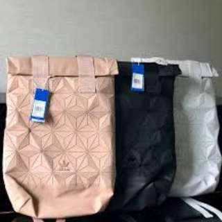 Adidas x Issey Miyake 3D Roll Top Backpack [Instock!!] Full Black/ Dazzle/ Colorful/ Nude Pink/ Navy/ Maroon Red/ White/ Blue