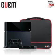 BUBM กระเป๋าใส่เครื่องเกมส์ PS4, PS4 Slim กันน้ำกันกระเเทกพร้อมสายสะพาย (Black)