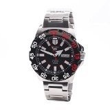 (Seiko) Seiko Men 5 Sports Monster Automatic Black Dial Stainless Steel Mens Watch SRP487-SRP487