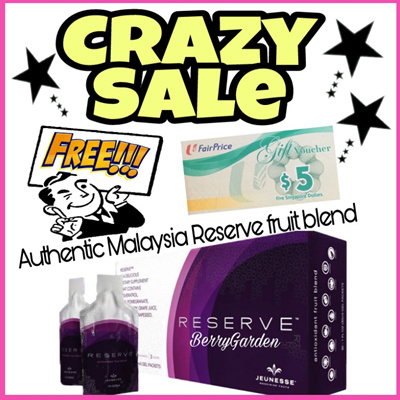 ❀Free NTUC Voucher ❀2020 EXPIRY❀AUTHENTIC MALAYSIA JEUNESSE RESERVE ANTIOXIDANT FRUIT BLEND