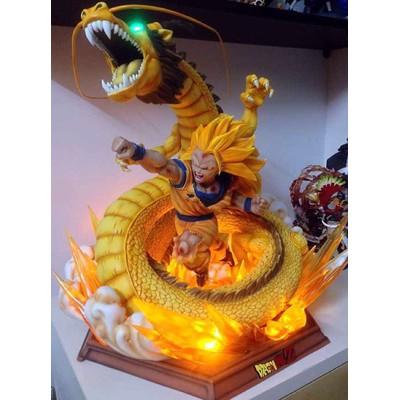 MRC&XCEED 七龍珠系列 超三悟空 龍拳爆發 1/4比例 大型GK雕像 (翻模再版)
