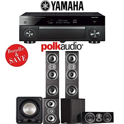 (Polk Audio) Polk Audio TSi 400 5.1-Ch Home Theater Speaker System with Yamaha AVENTAGE RX-A1070B...