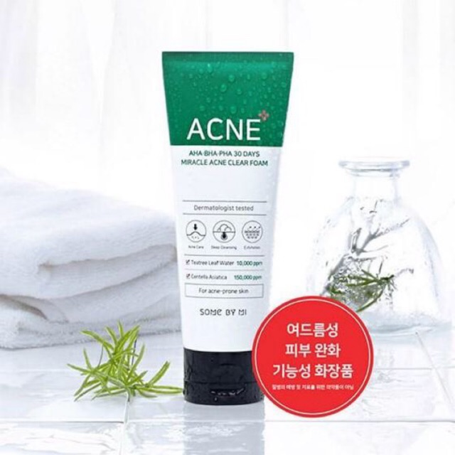 New!! SOME BY MI 30 Days Miracle Acne Clear Foam 100ml.