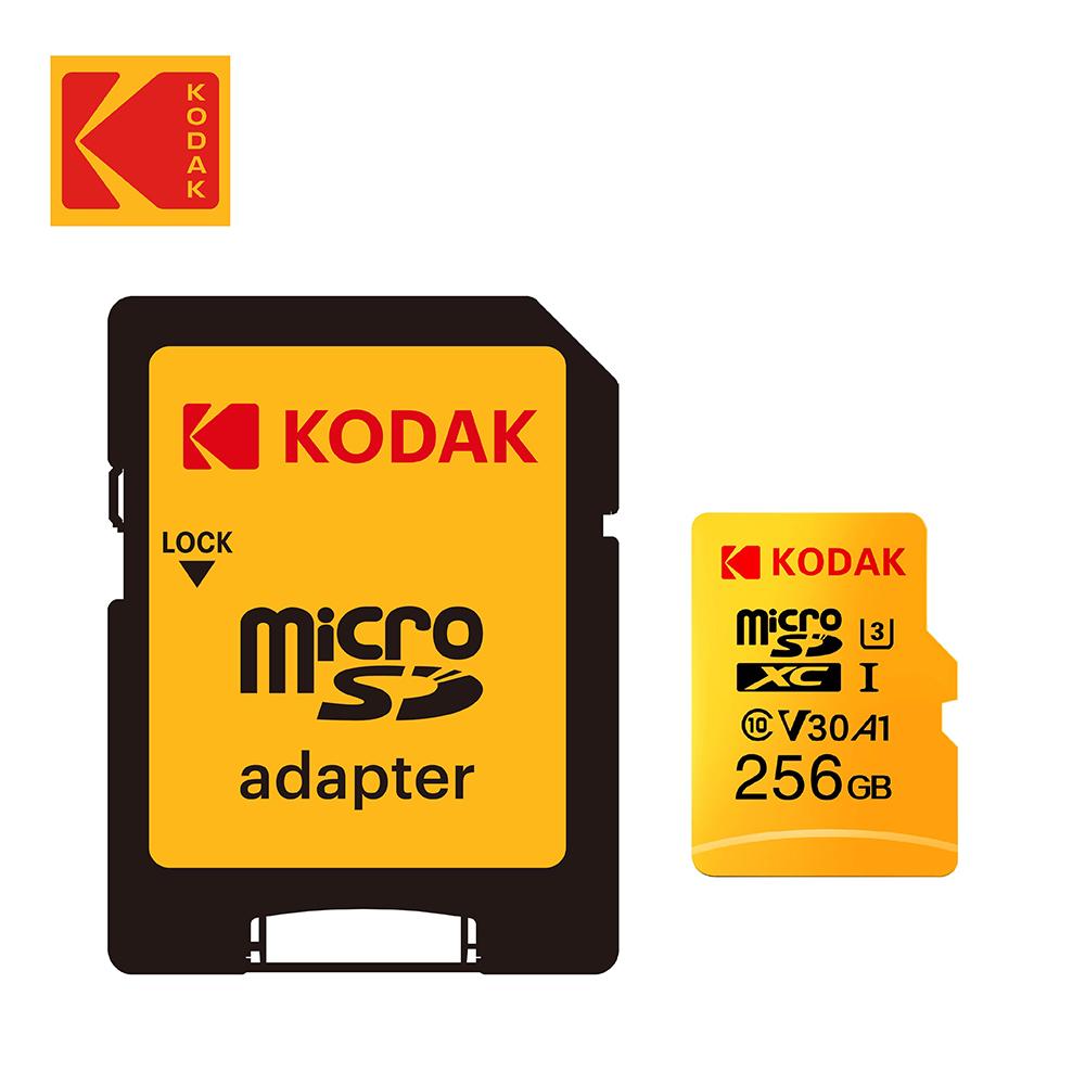 【Kodak】256GB U3 V30 MicroSD 記憶卡-附轉卡