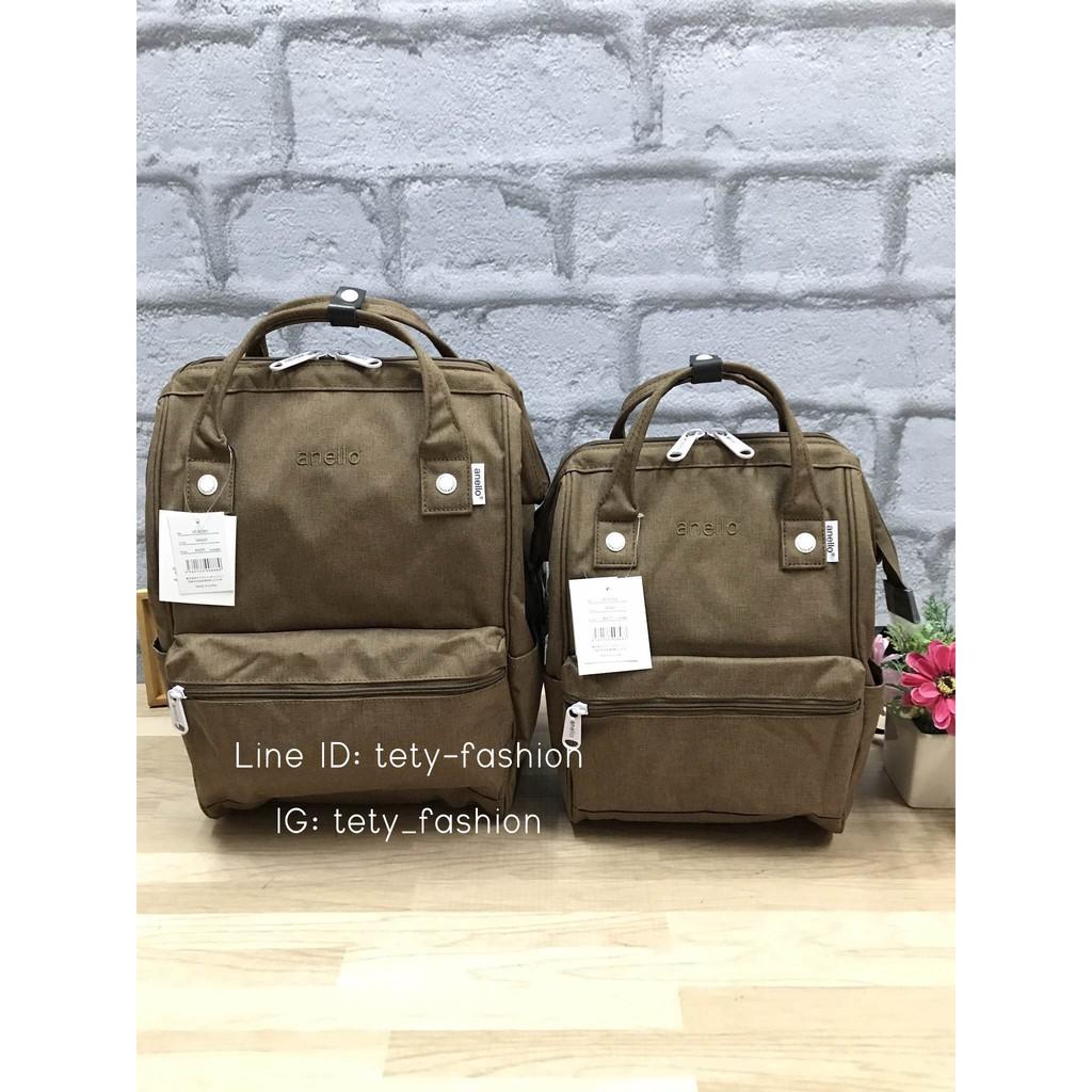 กระเป๋าoutletแท้ Anello Mottled Polyester Classic,Mini Backpack กระเป๋าเป้ สีWheat วัสดุpolyester canvas เนื้อผ้าหรูหรา