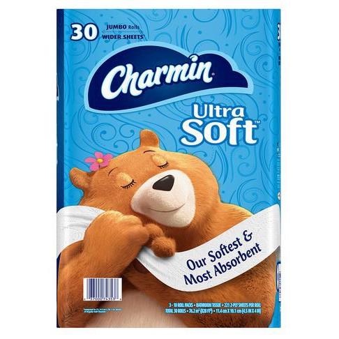 (好市多 代購) Charmin 超柔捲筒衛生紙 221張 X 30捲