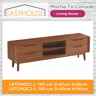 Mocha TV Console | Living Room | Solid Wood with High Laminated Finishing