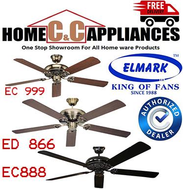 Elmark EC 999  Ceiling Fan | Wooden Blade |  EC 888 | ED 866 |