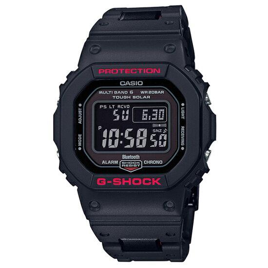 卡西歐CASIO G-SHOCK G打擊G打擊手機鏈接電波太陽能數碼手錶黑色紅GW-B5600HR-1JF kr-2004