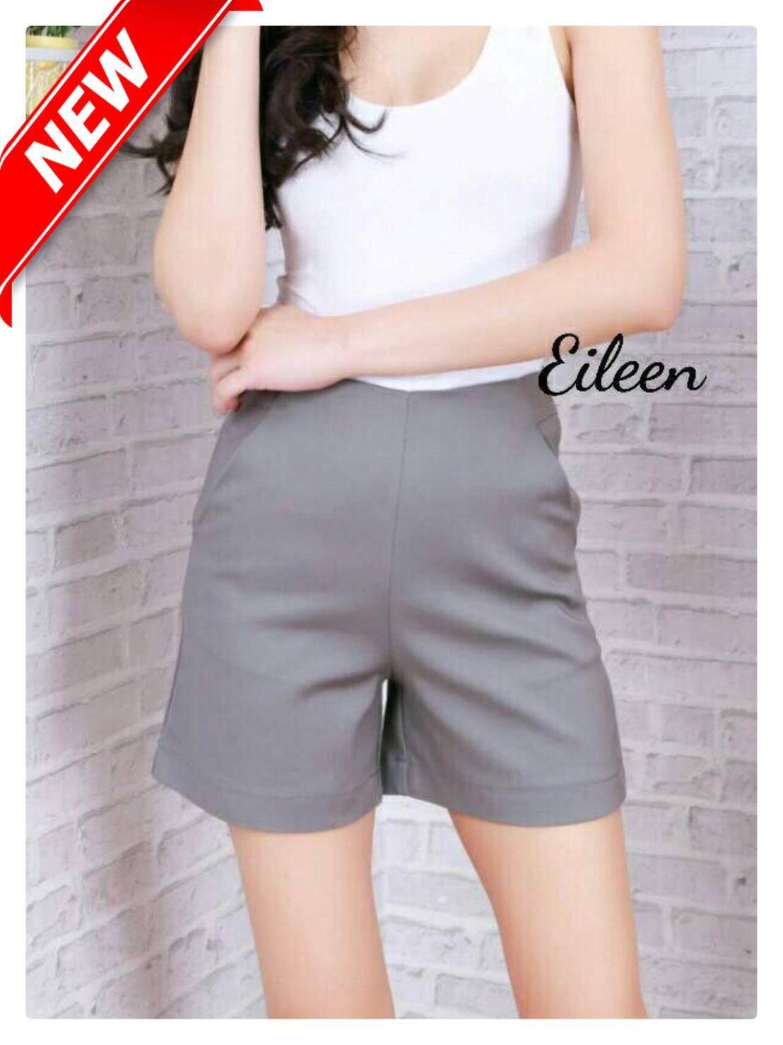 กางเกงผู้หญิง กางเกงขาสั้น ผญ กางเกงแฟชั่น กางเกงเอวสูง ผ้าโรเชฟ