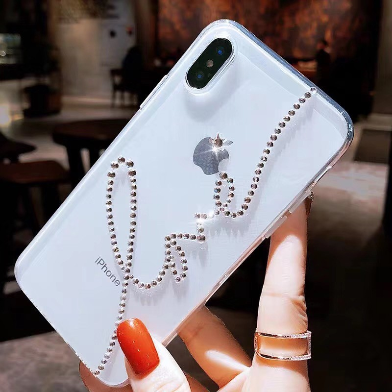 Vivo Diamond Star LOVE Case for Y97 Y95 Y91 Y93 Y83 Y71 Y55 Y53 X21 UD X20 Plus