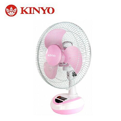 KINYO 耐嘉 12吋彩色充電風扇 CF-1201 粉【三井3C】