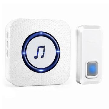 Wireless Chime Door Bell Waterproof 55 Ringtone 300M Range Alarm Doorbell IP55