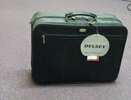 Delsey Leather Suitcase