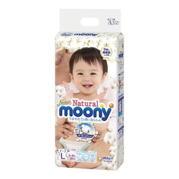 好市多 Natural Moony 日本頂級版紙尿褲 黏貼型 L 號 - 152片