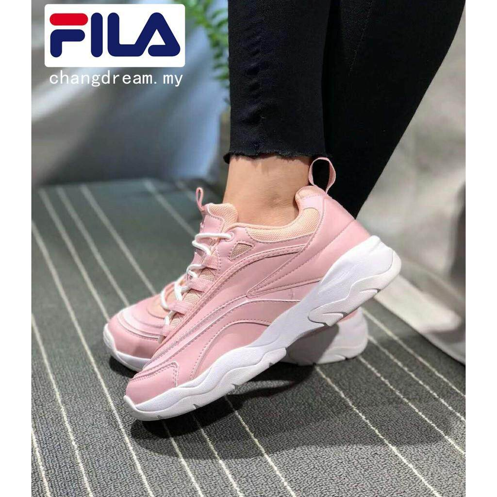 Platform shoes woman Folder Fila Ray women's pink casual running sports sneakers