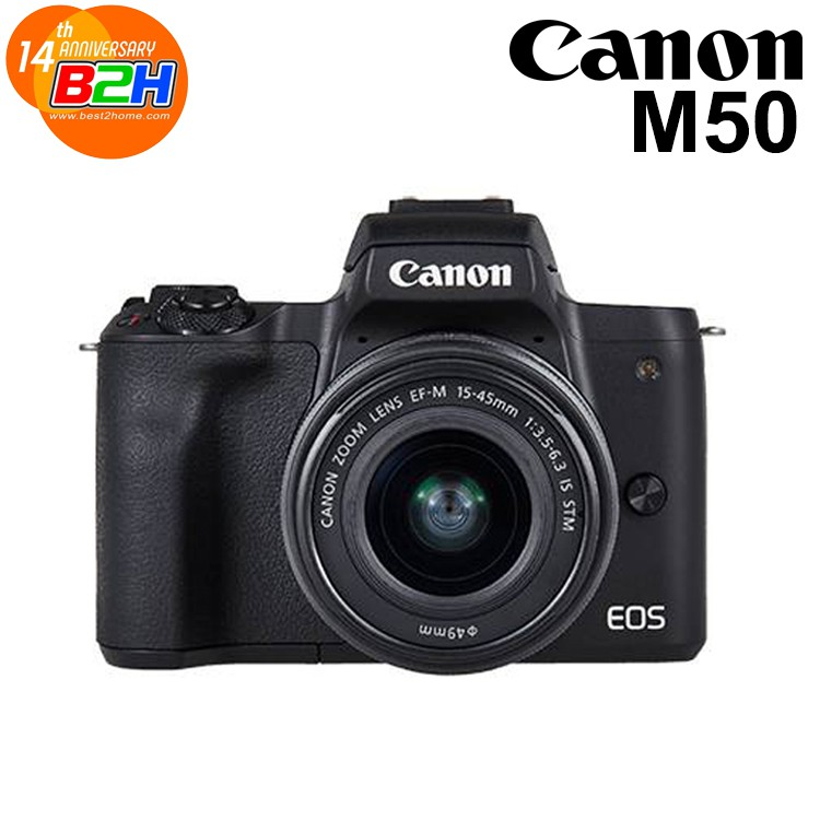 Canon EOS M50 + Lens 15-45mm. รับประกัน 1 ปี