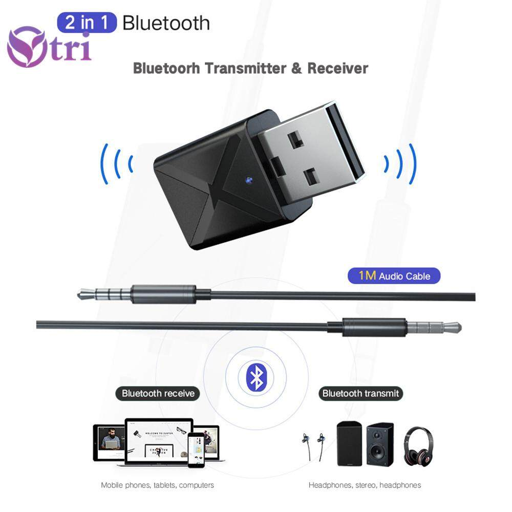 YTRI-Bluetooth USB transmitter receiver 2-in-1 wireless audio adapter Bluetooth 5.0