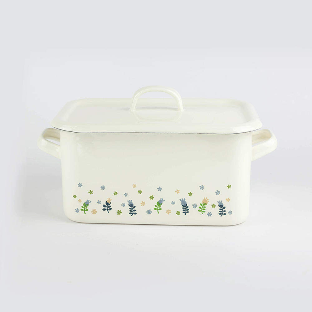 Living large kitchen enamel box storage food bread box