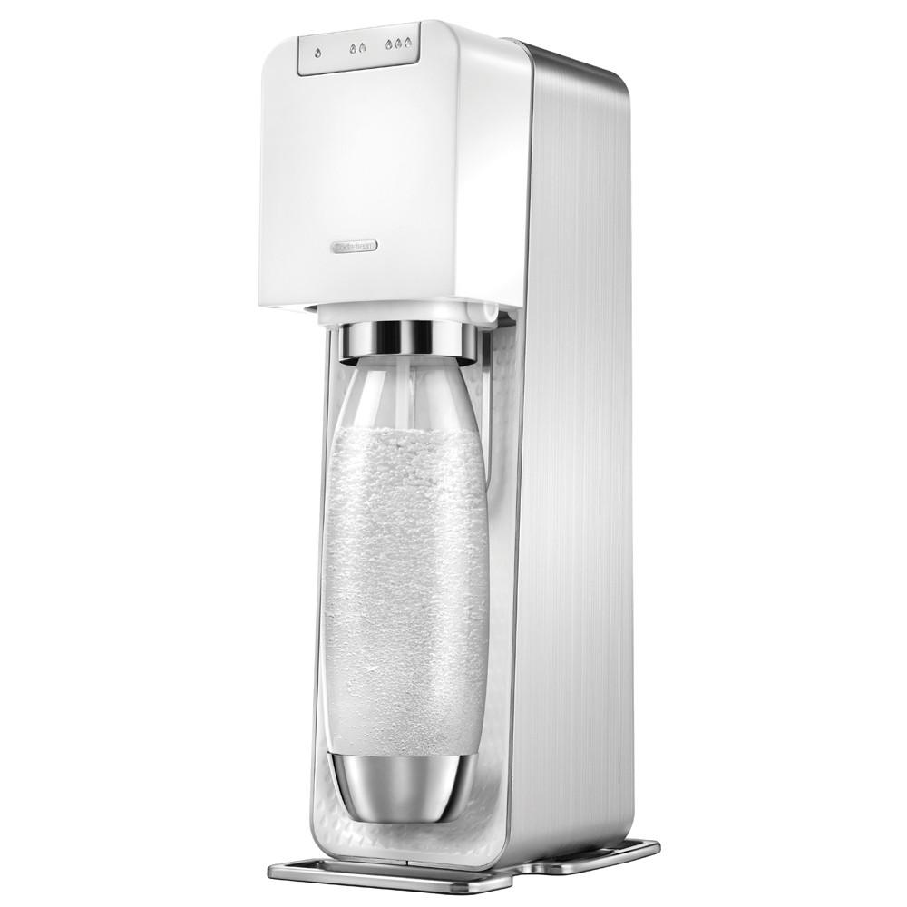 【Sodastream】電動式氣泡水機POWER SOURCE旗艦機(白)【限量加贈寶特瓶+可樂糖漿】
