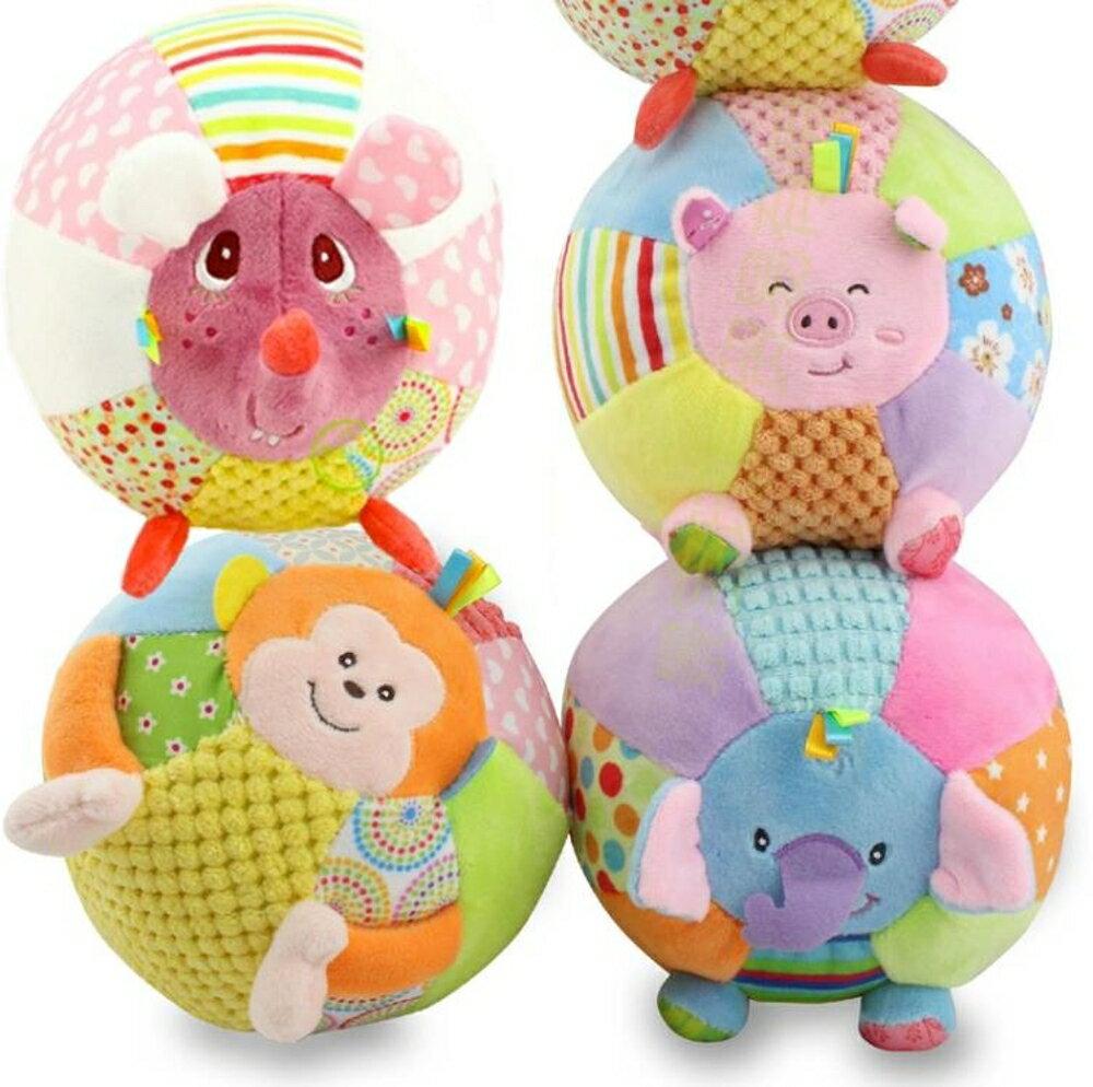 卡通多功能趣味髮聲毛絨玩具 嬰兒手抓球髮聲球 嬰幼兒玩具