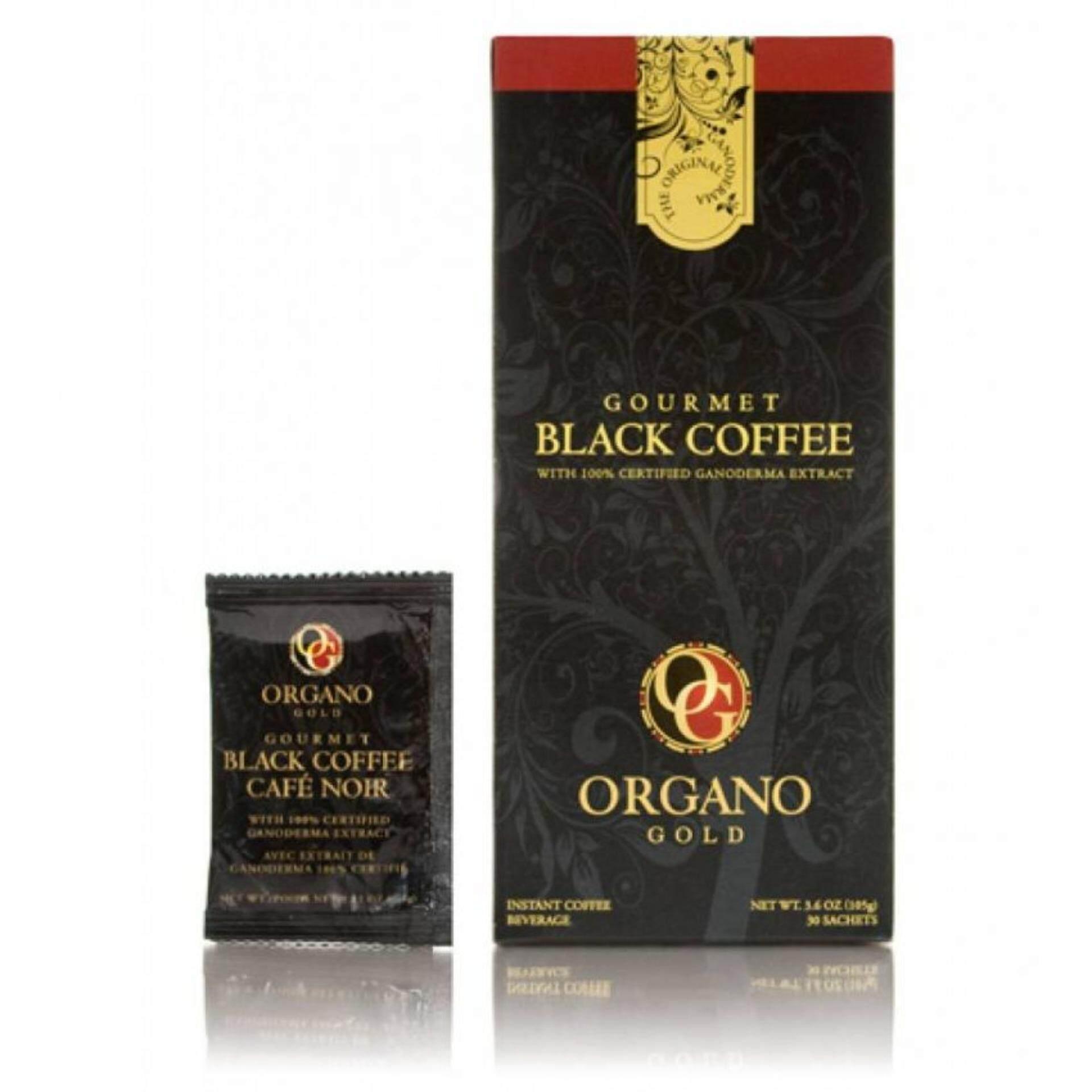 Gano  Black Coffee Organo Gold เห็ดหลินจือลดน้ำหนักลดความเครียด30ซอง