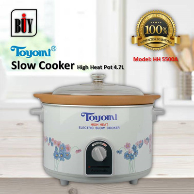 [IBuy] = TOYOMI High Heat Slow Cooker 4.7L [Model: HH 5500A] 100% Satisfaction / 1 Year Warranty
