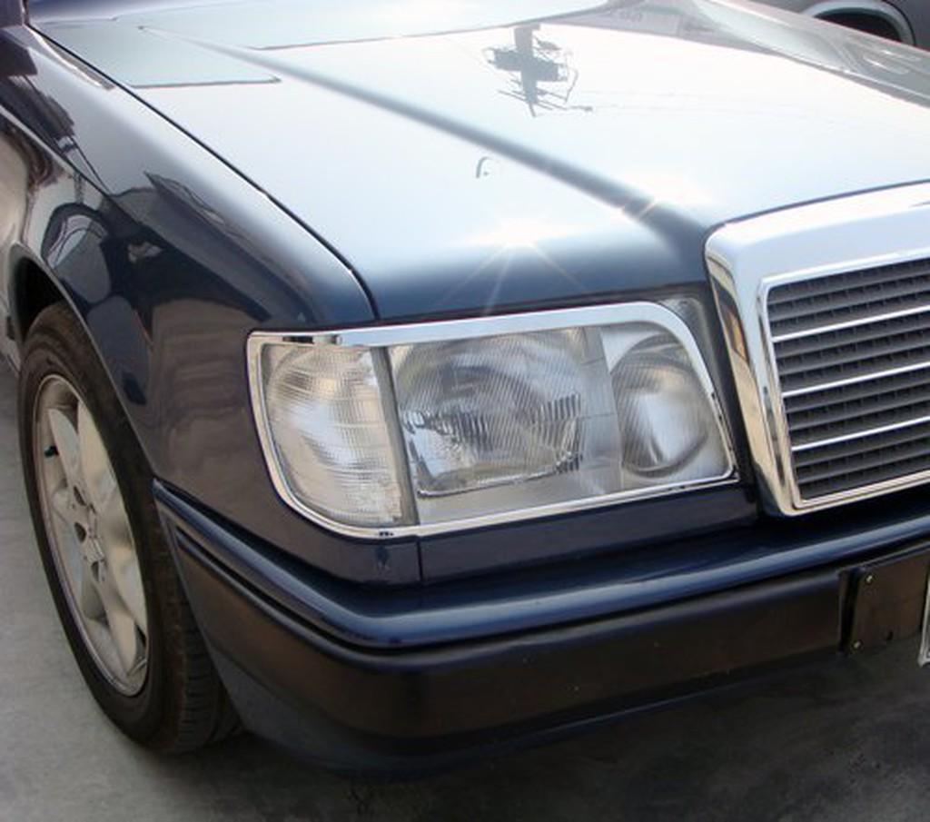 IDFR ODE 汽車精品 BENZ 賓士 E W124  85-95  鍍鉻大燈框  電鍍大燈框