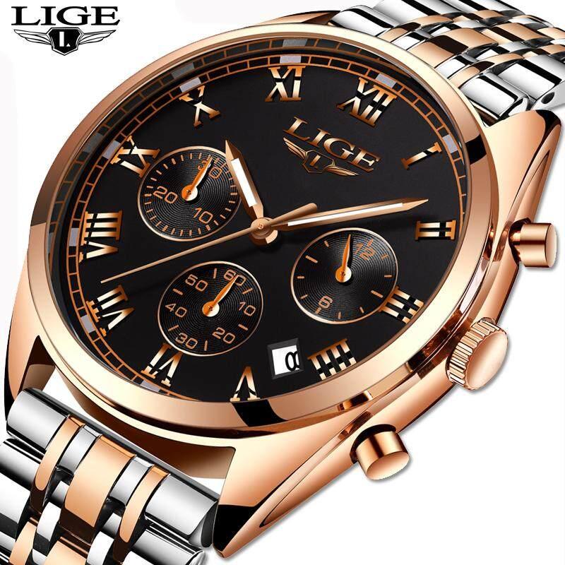 ผู้ชายนาฬิกาควอตซ์นาฬิกาผู้ชายธุรกิจกีฬาแฟชั่น Casual กันน้ำนาฬิกาผู้ชาย LIGE แบรนด์ + กล่องของขวัญ