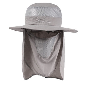 Wide Brim Bucket Hat Outdoor Breathable UV Protection Cap